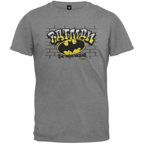 Batman - Boys Graffiti Youth T-Shirt Youth Small Grey front-166938