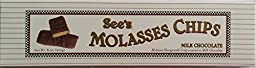 See\'s Candies Molasses Chips MIlk Chocolate 8 Oz (one Pack)