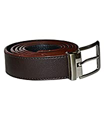 Kesari's Brown Leather Single Belt For Men