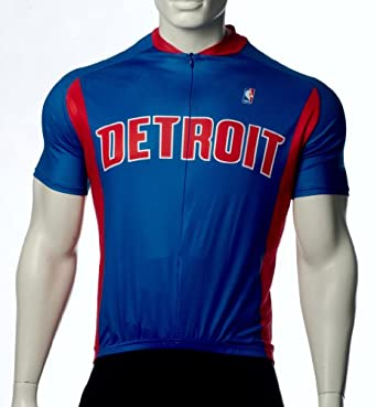 NBA Detroit Pistons Mens Cycling Jersey by VOmax