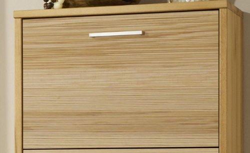 Combi Rillenfront für Schuhschrank - im Austausch für eine Holzfront in Kernbuche massiv geölt - geriffelt