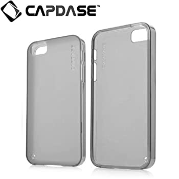 CAPDASE iPhone5 Soft Jacket2 XPOSE, Clear Black ソフトジャケット2 イクスポーズ (クリスタル・クリアー 液晶保護シート、ムービースタンド、プロテクティブ・ポーチ 付属) SJIH5-P201