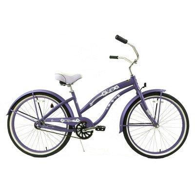 Women's Single Speed Beach Cruiser Color: Purple