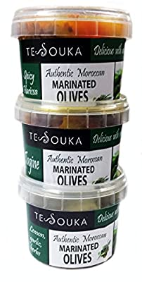 Moroccan Marinated Olive Set: Harissa, Preserved lemon, tagine