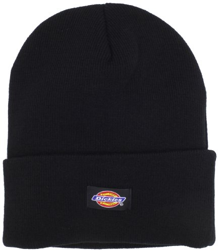 dickies-mens-14-inch-cuffed-knit-beanie-hat-black-one-size