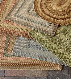 2' X 3' Oval Indoor/Outdoor Polypropylene Braided Rug, In Brown