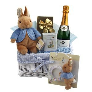 Beatrix Potter Peter Rabbit Gift Basket - New Baby Gifts and Hampers