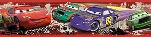 RoomMates - Cenefa adhesiva, diseño de carrera Piston Cup de Cars - Bebe Hogar