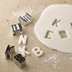 "Lakeland 1"" Alphabet Letters Icing & Biscuit Cutter Set in Storage Tin"