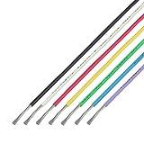 協和ハーモネット UL難燃架橋ポリエチレン絶縁電線 黒白赤黄緑青紫 各2m UL3265 AWG24 2m