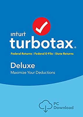 TurboTax Deluxe 2016 Tax Software Federal & State + Fed Efile PC/Mac