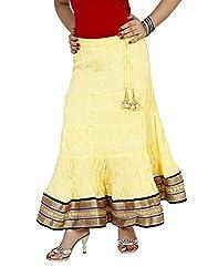 Sringar Women's Skirt (As2038_Yellow_30)