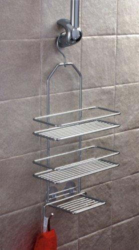 Étagère de douche à suspendre Chromé 25 x 43 cm