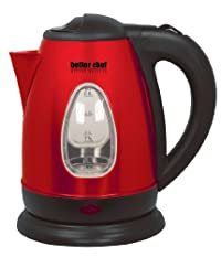 Better Chef IM-152R Electric Kettle, Red