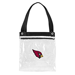 NFL Arizona Cardinals Clear Zip Tote Bag
