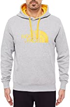 THE nORTH fACE drew peak pull à capuche pour homme M Gris - Heather Grey/Tnf Yellow