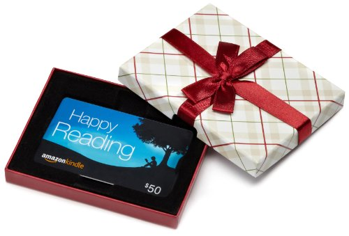 Amazon.com Plaid Gift Card Box  $50, Kindle Card Picture