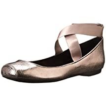 Jessica Simpson Women's Mandalaye Ballet Flat, Gunmetal, 9 M US
