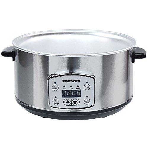 Syntrox-Germany-35-Liter-Digitaler-Edelstahl-Slow-Cooker-mit-Timer-und-Warmhaltefunktion