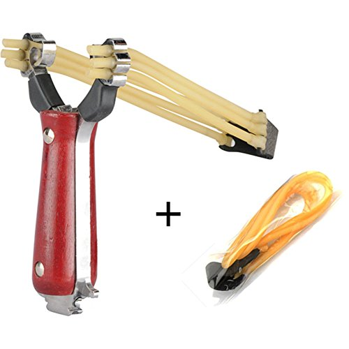 Stainless & Wood Handle Powerful Hunting Slingshot Catapult Launcher (Chief Aj compare prices)
