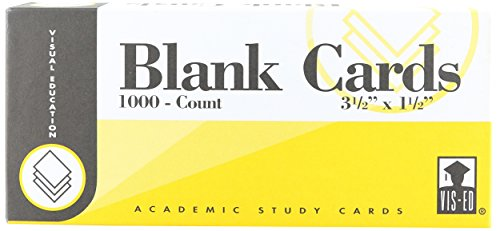 Blank Vocabulary Cards: Boxed Set/1000