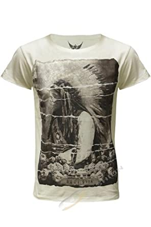 Mens Branded Chief Red Indian Skull Printed T Shirt