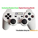 Digital Gaming World's Wireless Controller For Sony PS3 Console(White Color Limited Edition), Compatible/Generic.