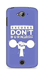 Amez Excuses don't burn Calories Back Cover For Acer Liquid Z530