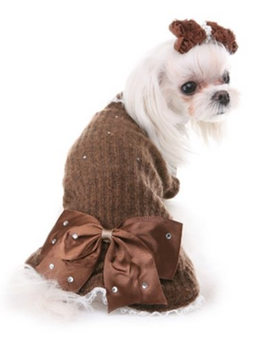 puppy-angel-pullover-big-ribbon-marron-taille-m