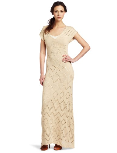 Trina Turk Women's Demerey Crochet Dress, Flawless Beige, Small