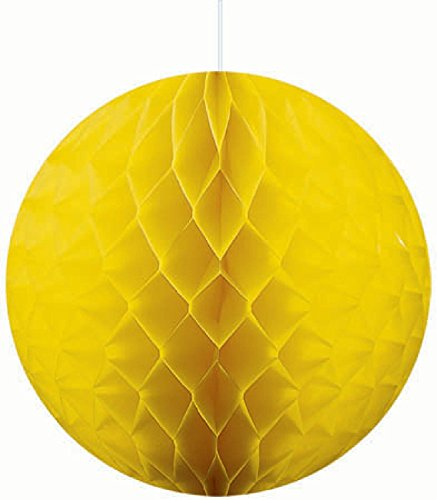 Amscan 201211 Tissue Honeycomb Ball Paper - Yellow