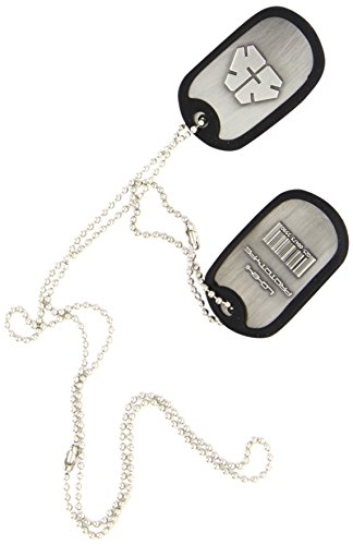 Metal Gear Solid Rising Dog Tags with LQ-84i Prototype Logo/ Barcode and Rubber Rim