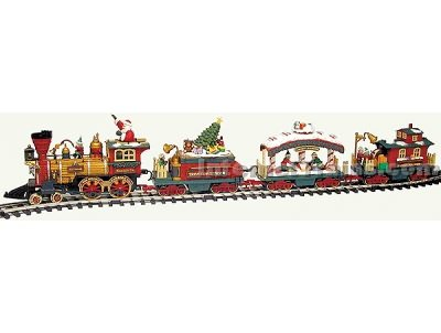 Holiday Express Animated Electric Train - New Bright Large Scale Holiday Express Train Set