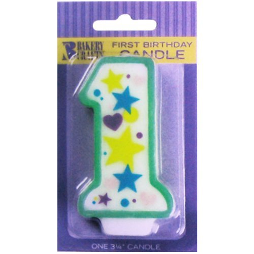 Oasis Supply Baby 1st Birthday Candles, 3.25-Inch - 1