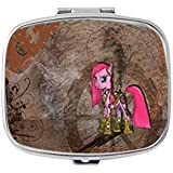 Pinkie Pie With Golden Armor My Little Pony Unique Custom Design Pill Box Medicine Tablet Organizer Dispenser...