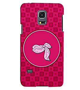 PRINTVISA Abstract Pink Pattern Case Cover for Samsung Galaxy S5 Mini