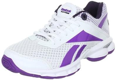 Reebok Runtone Plus Direct 150351, Damen Sportschuhe - Running, Weiss (white/major purple/stormy night silver 3), EU 42 (UK 8)