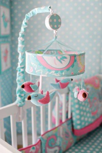 My Baby Sam Pixie Baby Mobile, Aqua (Bird Baby Mobile compare prices)
