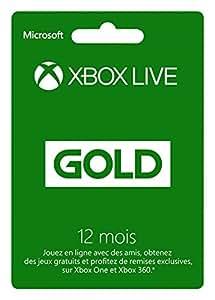 Abonnement Xbox Live Gold 12 mois