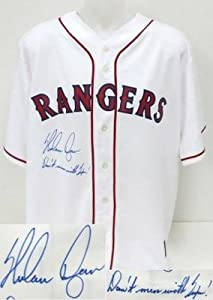 Nolan Ryan Signed Rangers Cooperstown Jersey INSCR. Don