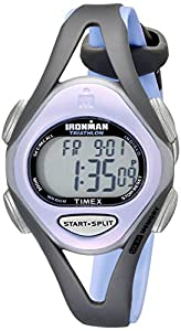 """Timex Women's T5E511 """"Ironman"""" Purple Resin Sport Watch with Gray Band"""