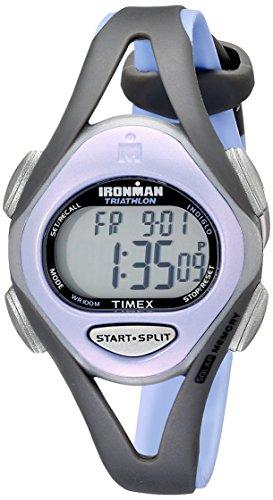 Timex Women's T5E511 Ironman Sleek 50 Mid-Size Purple/Gray Resin Strap Watch (Iron Man Woman compare prices)