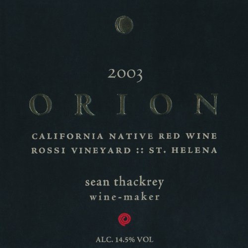 2003 Thackrey Orion Red 750 Ml