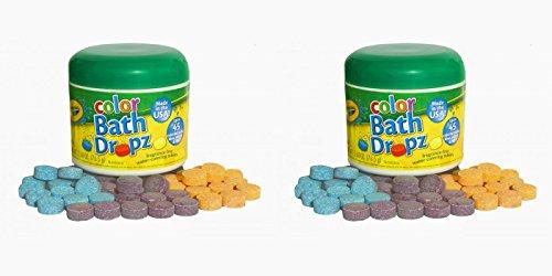 Crayola Bath Dropz 2.68 oz 45 Tablets (Pack of 2) - 1