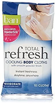 Ban Total Refresh Cooling Body Cloths, Invigorate, 30 Count
