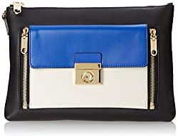 MILLY Sienna Collection Clutch, Blue/Multi, One Size