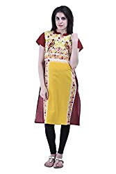 aarr Short Sleeves Cotton Printed Floral Kurta For Women