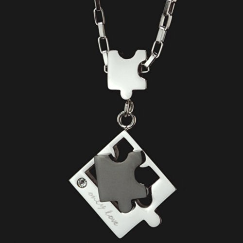 Stainless steel jewelry LOVE PUZZLE (black men)