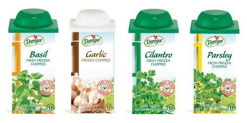 Fresh Frozen Chopped Herb Best Sellers - Basil, Parsley, Cilantro & Garlic