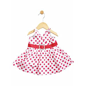 girls pink polka dotted dress, 2-3 years